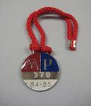 Melbourne Cricket Club membership medallion, season 1984/85