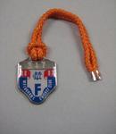 Melbourne Cricket Club Medallion, 1986/87, with orange lanyard