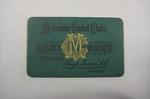 Melbourne Cricket Club Lady Membership Ticket, 1938/39