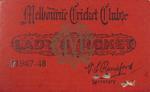 Melbourne Cricket Club Lady Membership Ticket, 1947/48