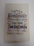 Reproduction bookplate presented to Frank Grey Smith, January 25, 1886.