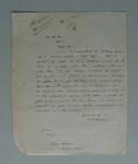 Letter written by Edward 'Carji' Greeves to the Melbourne Cricket Club, June 1923
