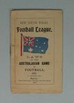 New South Wales Football League booklet, 'Laws of the Australasian Game of Football', c. 1903