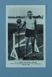 Postcard featuring TJ Miles, World's Champion Professional Sprinter 1928