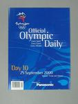 Programme, Sydney 2000 Olympic Games - Day 10