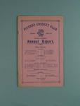 Annual report, Fitzroy Cricket Club - season 1935/36