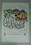 Original artwork for Herald Sun Boxing Day Test poster by William Ellis Green (WEG), 1998