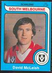 1980 Scanlens (Scanlens) Australian Football David McLeish Trade Card
