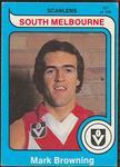1980 Scanlens (Scanlens) Australian Football Mark Browning Trade Card