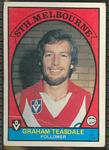 1978 Scanlens (Scanlens) Australian Football Graham Teasdale Trade Card