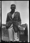 Negative, depicts South African cricketer c1932