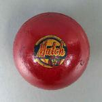 Red cricket ball, c1940s