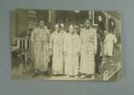 Postcard, image depicts a group of swimmers - 1920 Olympic Games
