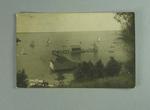 Postcard, image of yachts on Lake Colac