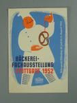 Postcard, advertising a bakery festival in Stuttgart - 1952