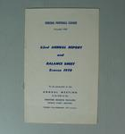 Federal Football League Sixty Second Annual Report and Balance Sheet, Season 1970
