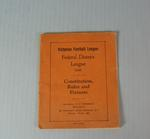 Federal District Football League Constitution, Rules and Fixtures, 1935