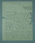 Letter written by Frank Beaurepaire to his mother, dated 1910