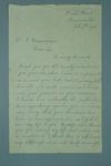 Letter from G.A. Lloyd, thanking Frank Beaurepaire for saving his life, dated 1910