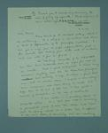 Letter written to Frank Beaurepaire from a friend named Keith, dated 1933