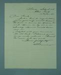 Letter addressed to Frank Beaurepaire from Sam Barclay, Principal of Albert Park State School, dated 1910