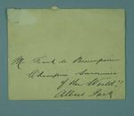 Envelope addressed to Frank Beaurepaire, originally containing letter from Sam Barclay