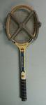 Harmas school tennis racquet used by Phillip Naughton, Xavier College, c.1959 - 1963