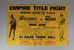 Empire Title Fight poster, John McCluskey v Henry Nissen, 1971
