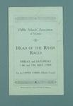 Programme for Head of the River Race 1909