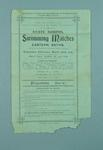 Programme for the State School Swimming Matches, 22 March 1905