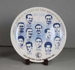 Commemorative plate issued by the Cricket Club of India, c. 2002