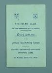 Programme for the Annual Swimming Races between the Oxford and Cambridge University Swimming Clubs, 27 June 1910