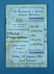 Programme for Grand Athletic & Cycling Carnival, held at SCG on 4 Jan 1901