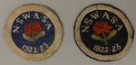 Two New South Wales Amateur Swimming Association (NSWASA) pocket patches worn by Richmond 'Dick' Eve, 1922/23