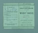 Scorecard for a game of whist, played at Levenshulme Cricket and Lawn Tennis Club, 15 October 1910
