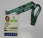 Accreditation pass issued to Kitty Chiller, Rio de Janeiro Olympic Games, 2016