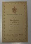 Oldham Football Club dinner invitation for the Australasian Team, 1911