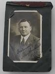 Photograph album containing signed photographs and postcards, 1929/30 Australian rugby league tour of England.