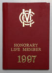 Marylebone Cricket Club Honorary Life Membership 1997, presented to Ian Johnson.