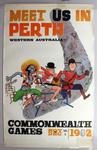 'Meet us in Perth', official Games poster for the 1962 Perth Commonwealth Games
