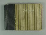 Grey stripped Autograph book compiled by Valda Unthank