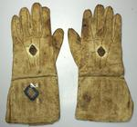 Wicket-keeping gloves used and owned by Jack Blackham, circa 1888