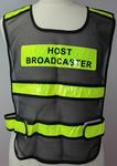Broadcaster's vest, worn by Barry Minster at the Melbourne 2006 Commonwealth Games