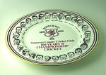 """Plate, """"Somerset County Cricket Club - 100 Years of Championship Cricket"""""""