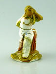 Plaster figurine, cricketer playing a shot