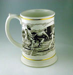 Porcelain tankard - Ashes Centenary Tankard - commemorating 1882 Test Match