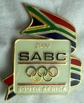 South African Broadcasting Corporation pin produced for the Sydney 2000 Olympic Games