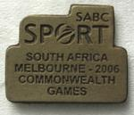 South African Broadcasting Corporation pin produced for the Melbourne 2006 Commonwealth Games