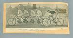 Newspaper clipping, reporting on cyclist Jack Parsons being paced by a quadruplet