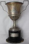 Trophy awarded to Samuel Zachariah for 25 years of service as secretary of the Tivoli Skittle Club, c.1930